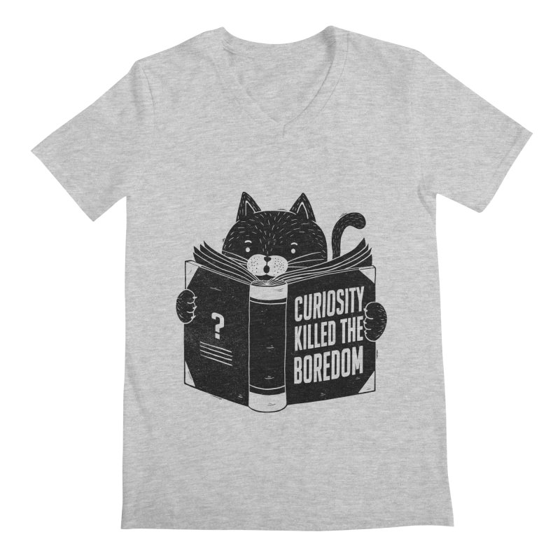 Curiosity Killed The Boredom Men's V-Neck by Tobe Fonseca's Artist Shop