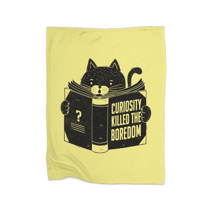 Curiosity Killed The Boredom Home Blanket by Tobe Fonseca's Artist Shop