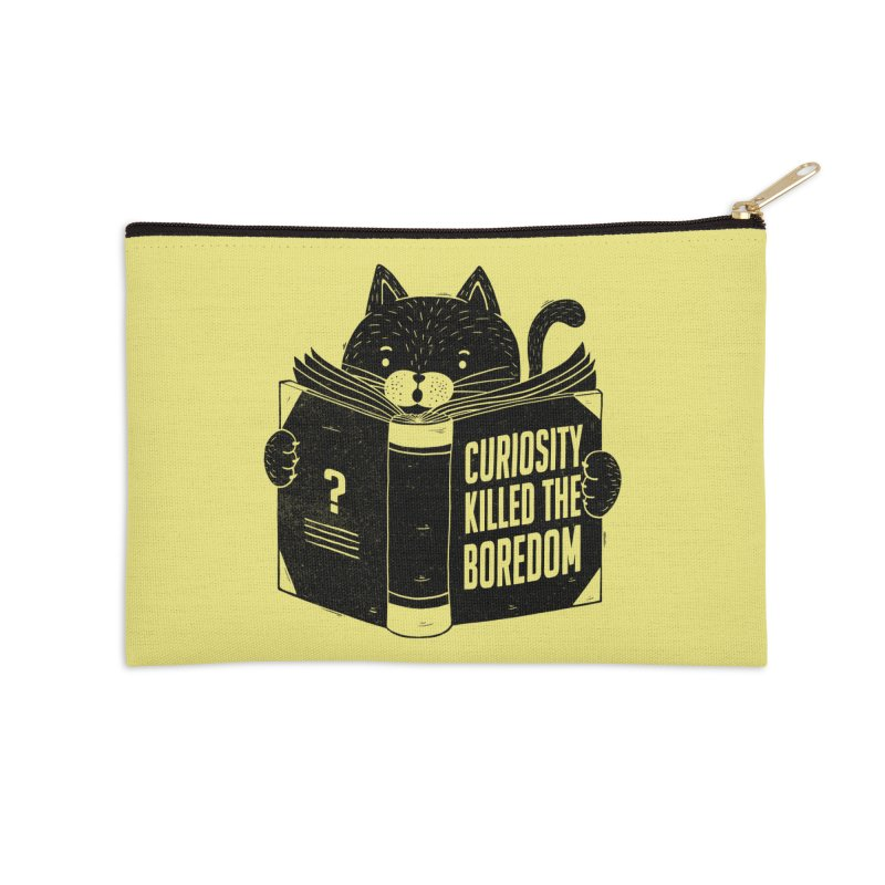 Curiosity Killed The Boredom Accessories Zip Pouch by Tobe Fonseca's Artist Shop