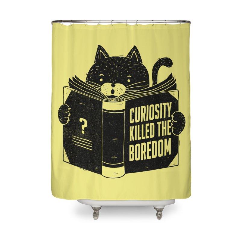 Curiosity Killed The Boredom Home Shower Curtain by Tobe Fonseca's Artist Shop