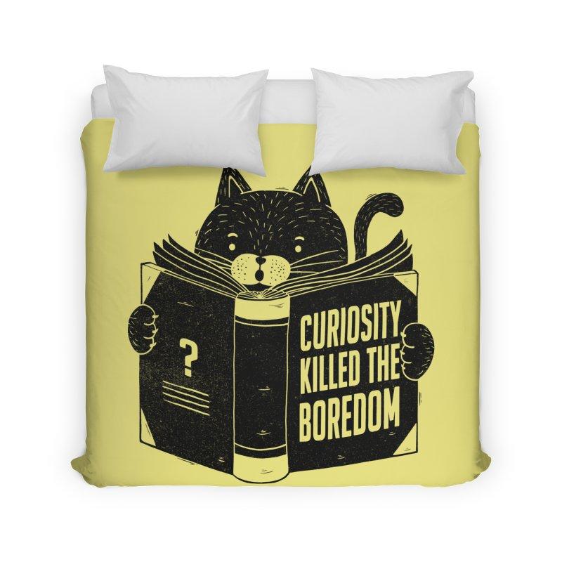 Curiosity Killed The Boredom Home Duvet by Tobe Fonseca's Artist Shop