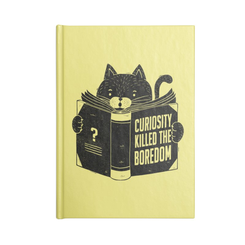 Curiosity Killed The Boredom Accessories Notebook by Tobe Fonseca's Artist Shop
