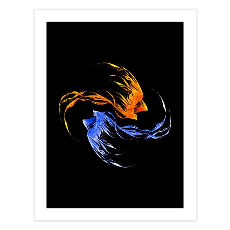 Phoenix Ice And Fire Home Fine Art Print by Tobe Fonseca's Artist Shop