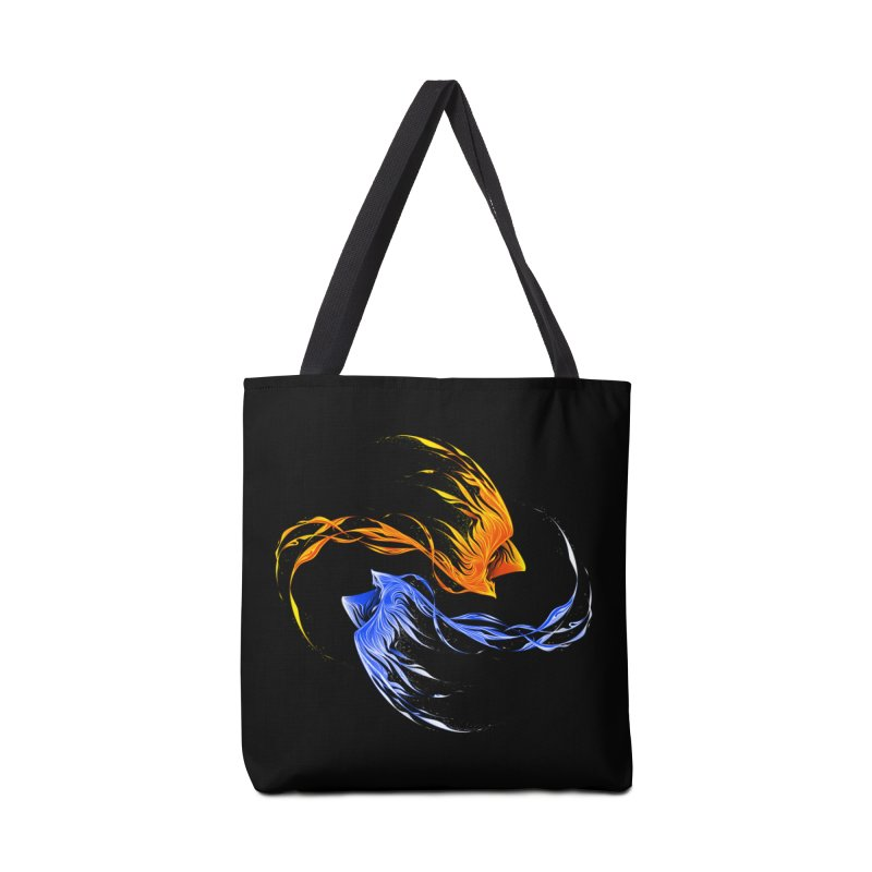 Phoenix Ice And Fire Accessories Bag by Tobe Fonseca's Artist Shop