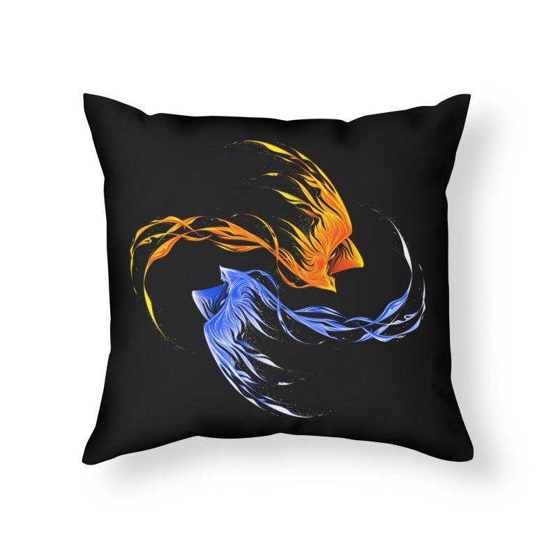 Phoenix Ice And Fire Home Throw Pillow by Tobe Fonseca's Artist Shop