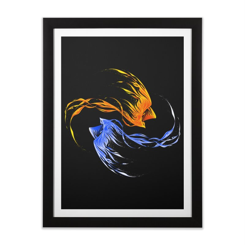 Phoenix Ice And Fire Home Framed Fine Art Print by Tobe Fonseca's Artist Shop