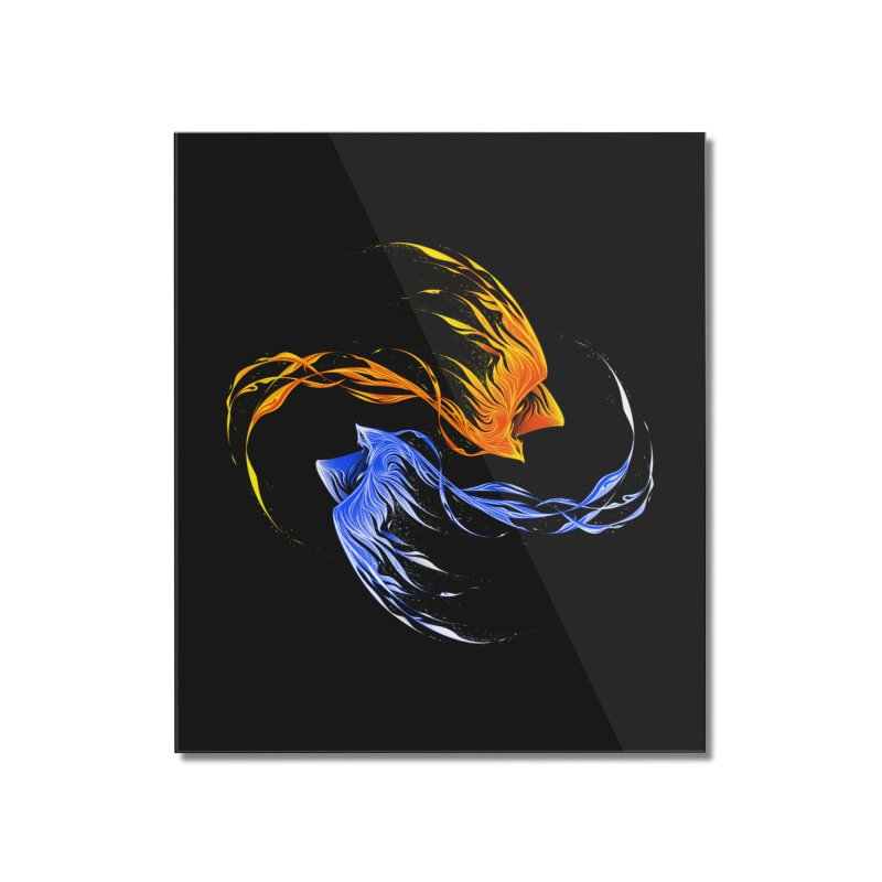 Phoenix Ice And Fire Home Mounted Acrylic Print by Tobe Fonseca's Artist Shop