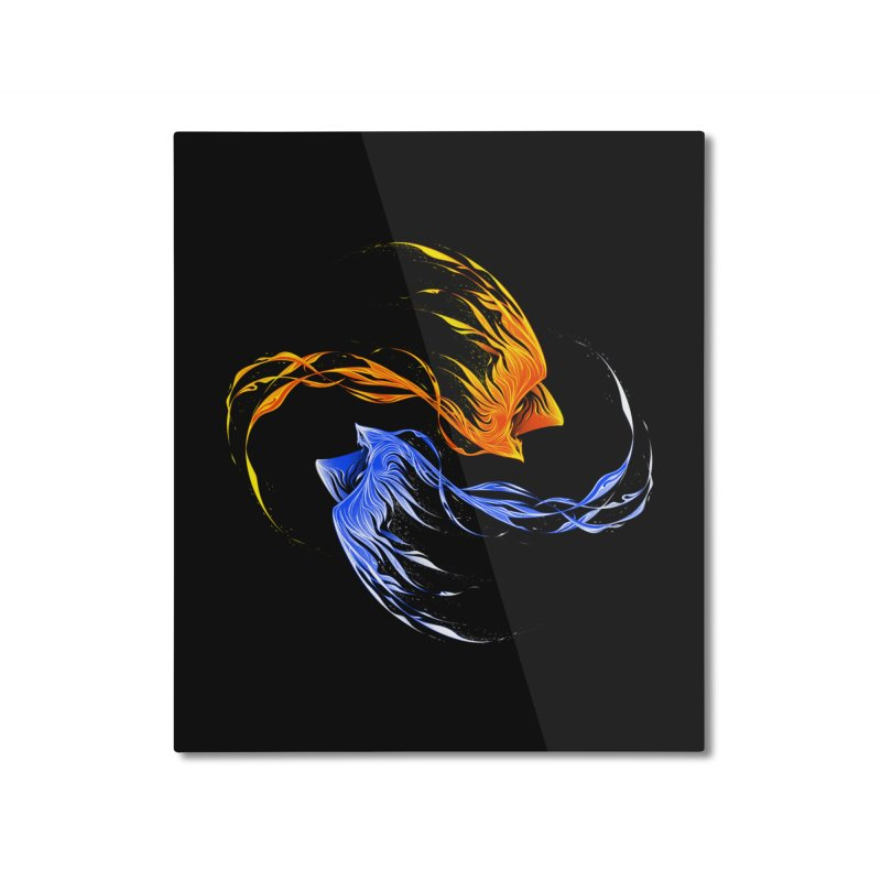 Phoenix Ice And Fire Home Mounted Aluminum Print by Tobe Fonseca's Artist Shop