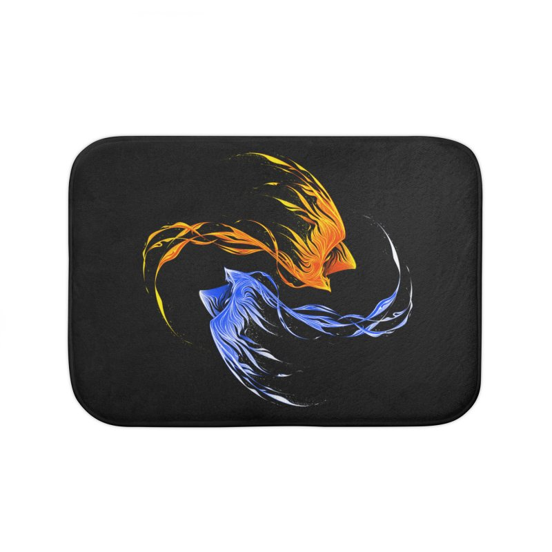 Phoenix Ice And Fire Home Bath Mat by Tobe Fonseca's Artist Shop