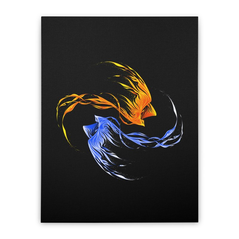 Phoenix Ice And Fire Home Stretched Canvas by Tobe Fonseca's Artist Shop