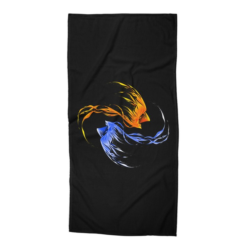 Phoenix Ice And Fire Accessories Beach Towel by Tobe Fonseca's Artist Shop