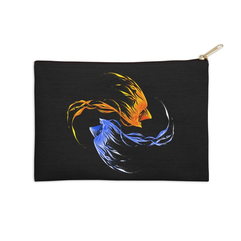 Phoenix Ice And Fire Accessories Zip Pouch by Tobe Fonseca's Artist Shop