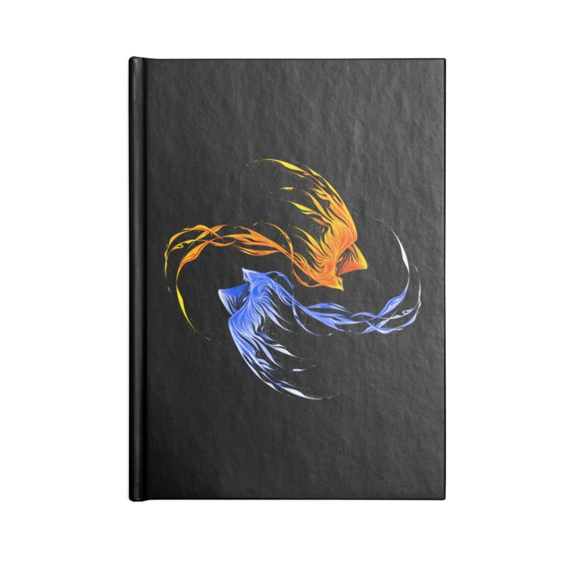 Phoenix Ice And Fire Accessories Notebook by Tobe Fonseca's Artist Shop