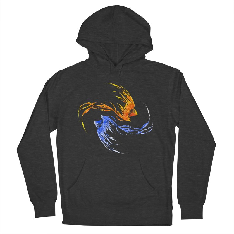 Phoenix Ice And Fire Men's Pullover Hoody by Tobe Fonseca's Artist Shop