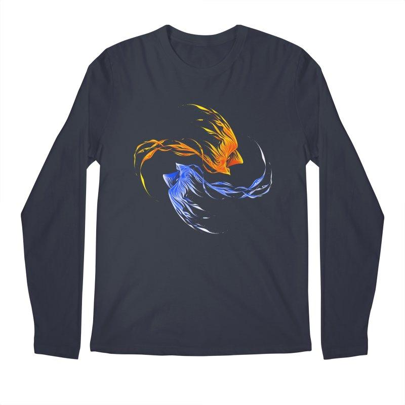 Phoenix Ice And Fire Men's Longsleeve T-Shirt by Tobe Fonseca's Artist Shop