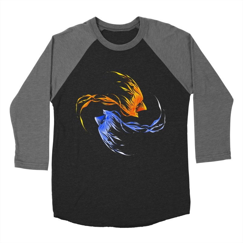 Phoenix Ice And Fire Men's Baseball Triblend T-Shirt by Tobe Fonseca's Artist Shop
