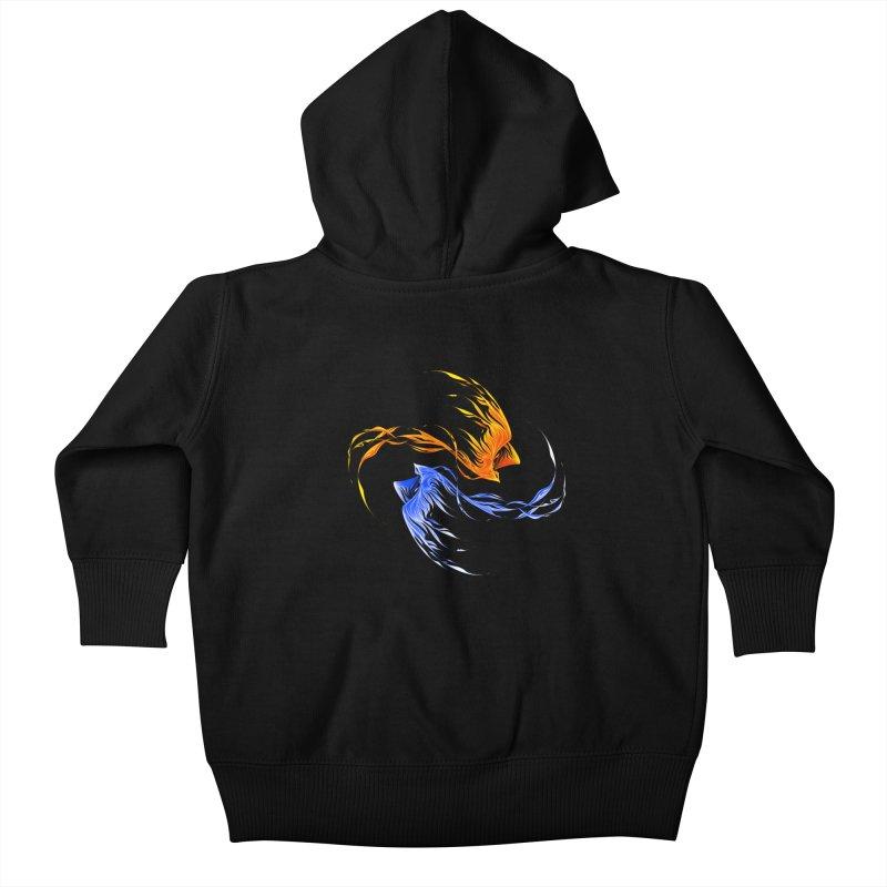 Phoenix Ice And Fire Kids Baby Zip-Up Hoody by Tobe Fonseca's Artist Shop