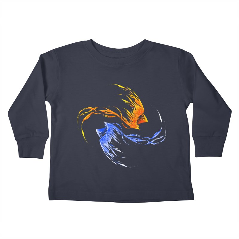 Phoenix Ice And Fire Kids Toddler Longsleeve T-Shirt by Tobe Fonseca's Artist Shop