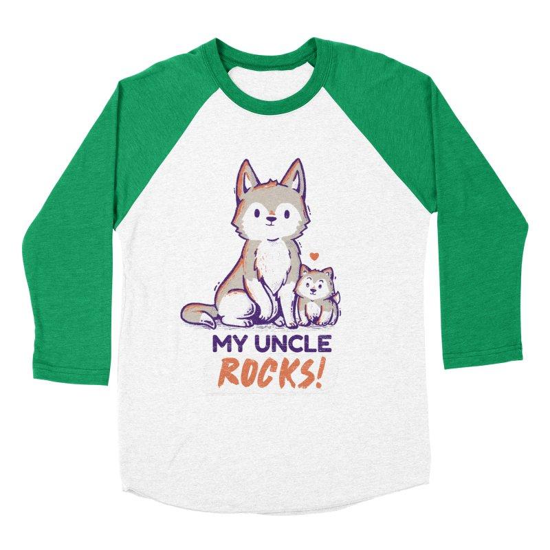 My Uncle Rocks Men's Baseball Triblend T-Shirt by Tobe Fonseca's Artist Shop