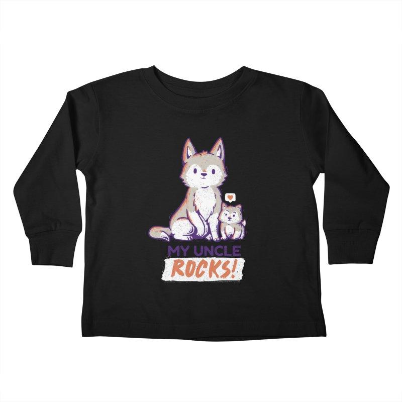 My Uncle Rocks Kids Toddler Longsleeve T-Shirt by Tobe Fonseca's Artist Shop