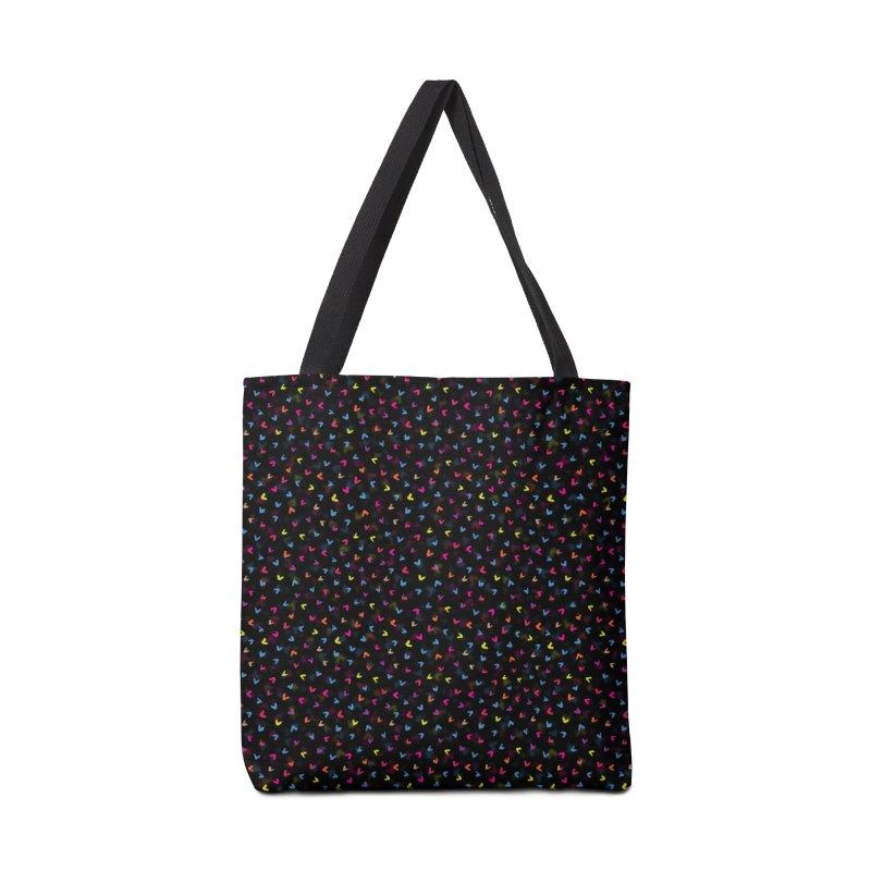 Black Rainbow V Pattern Accessories Bag by Tobe Fonseca's Artist Shop