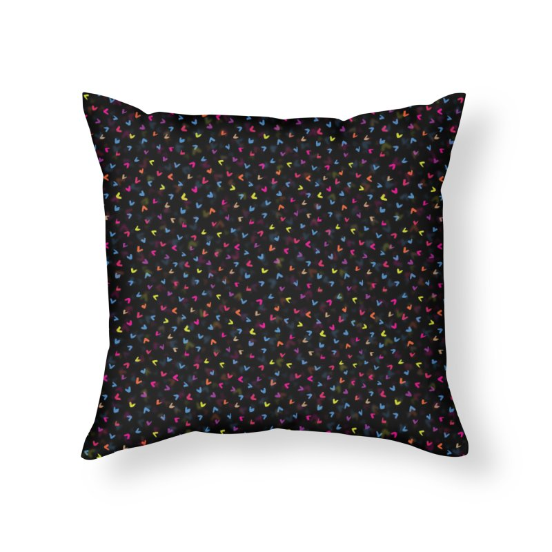 Black Rainbow V Pattern Home Throw Pillow by Tobe Fonseca's Artist Shop