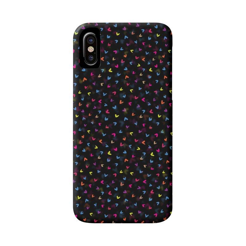 Black Rainbow V Pattern Accessories Phone Case by Tobe Fonseca's Artist Shop