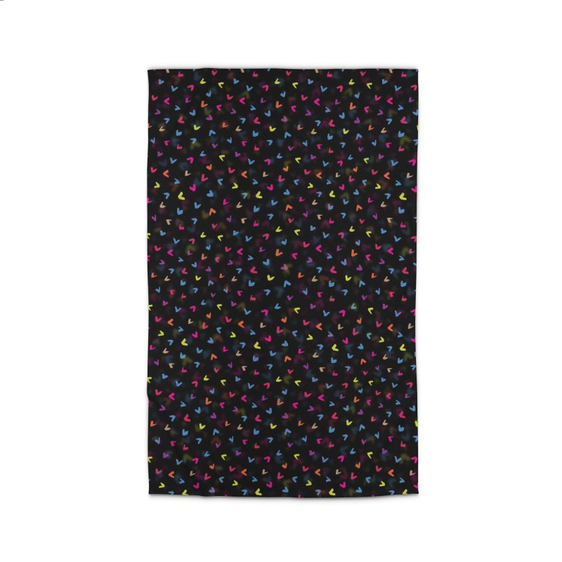 Black Rainbow V Pattern Home Rug by Tobe Fonseca's Artist Shop