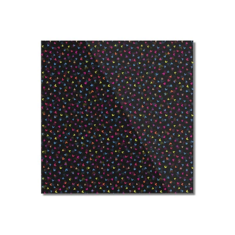 Black Rainbow V Pattern Home Mounted Acrylic Print by Tobe Fonseca's Artist Shop