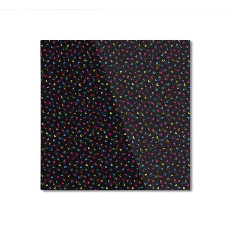 Black Rainbow V Pattern Home Mounted Aluminum Print by Tobe Fonseca's Artist Shop