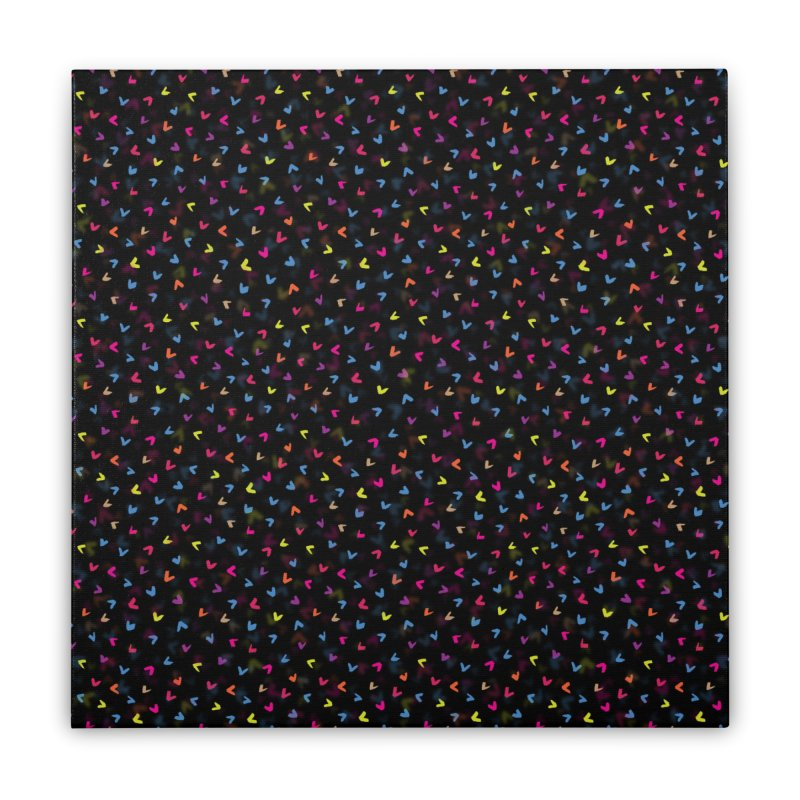Black Rainbow V Pattern Home Stretched Canvas by Tobe Fonseca's Artist Shop