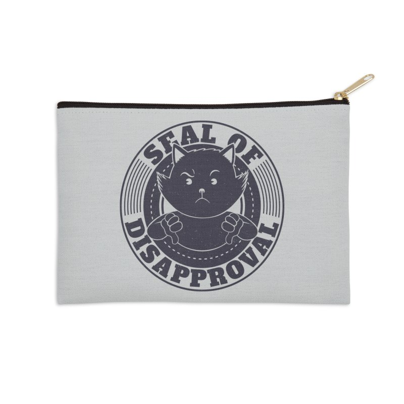 Seal Of Disapproval Accessories Zip Pouch by Tobe Fonseca's Artist Shop