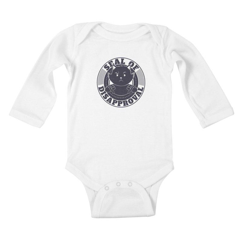 Seal Of Disapproval Kids Baby Longsleeve Bodysuit by Tobe Fonseca's Artist Shop