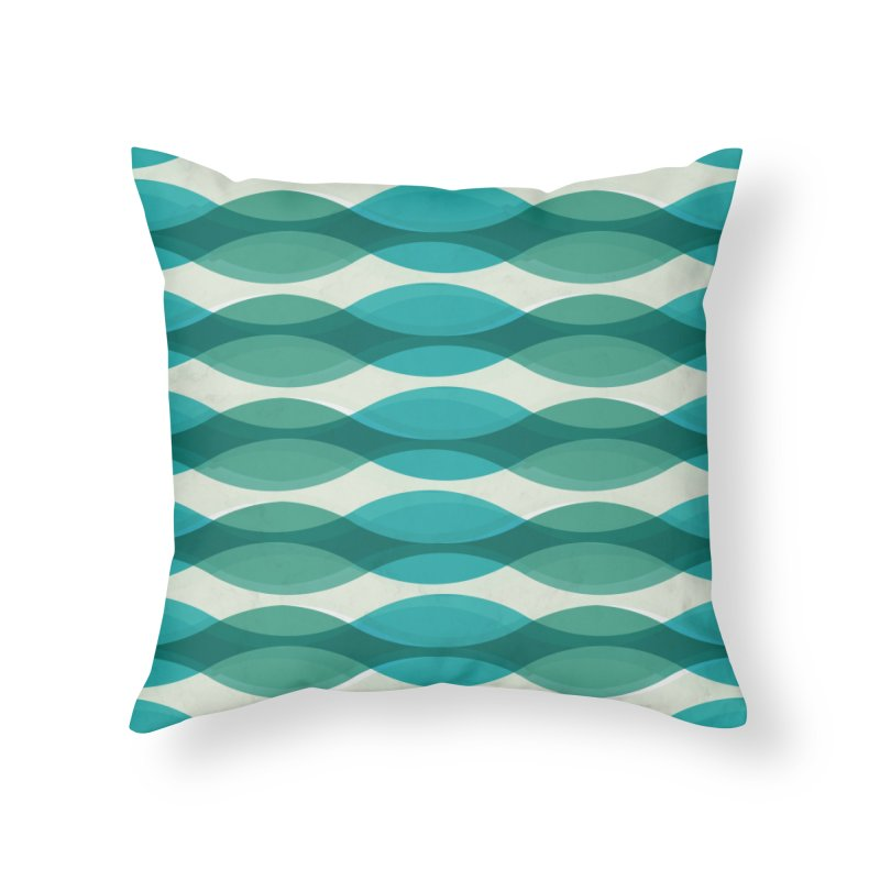 Aquamarine Waves Sea Home Throw Pillow by Tobe Fonseca's Artist Shop