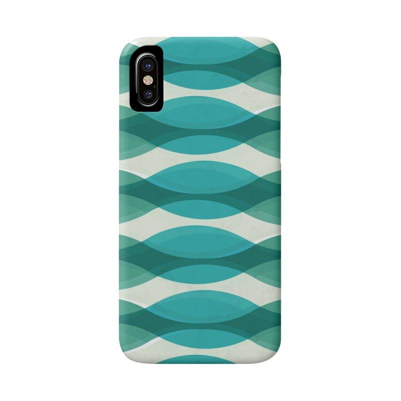 Aquamarine Waves Sea Accessories Phone Case by Tobe Fonseca's Artist Shop