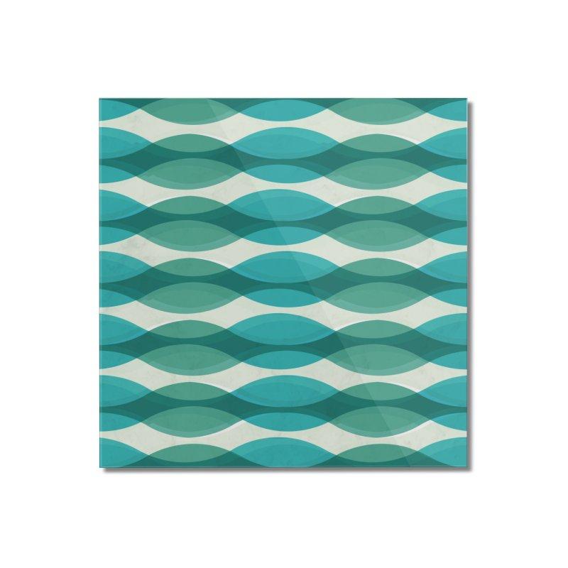 Aquamarine Waves Sea Home Mounted Acrylic Print by Tobe Fonseca's Artist Shop