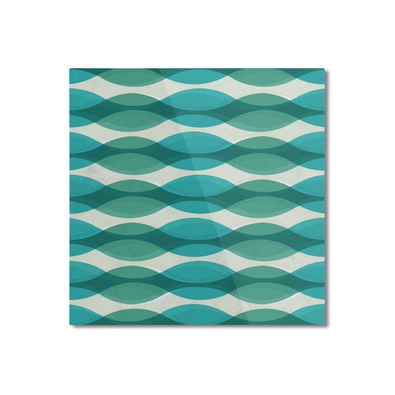 Aquamarine Waves Sea Home Mounted Aluminum Print by Tobe Fonseca's Artist Shop