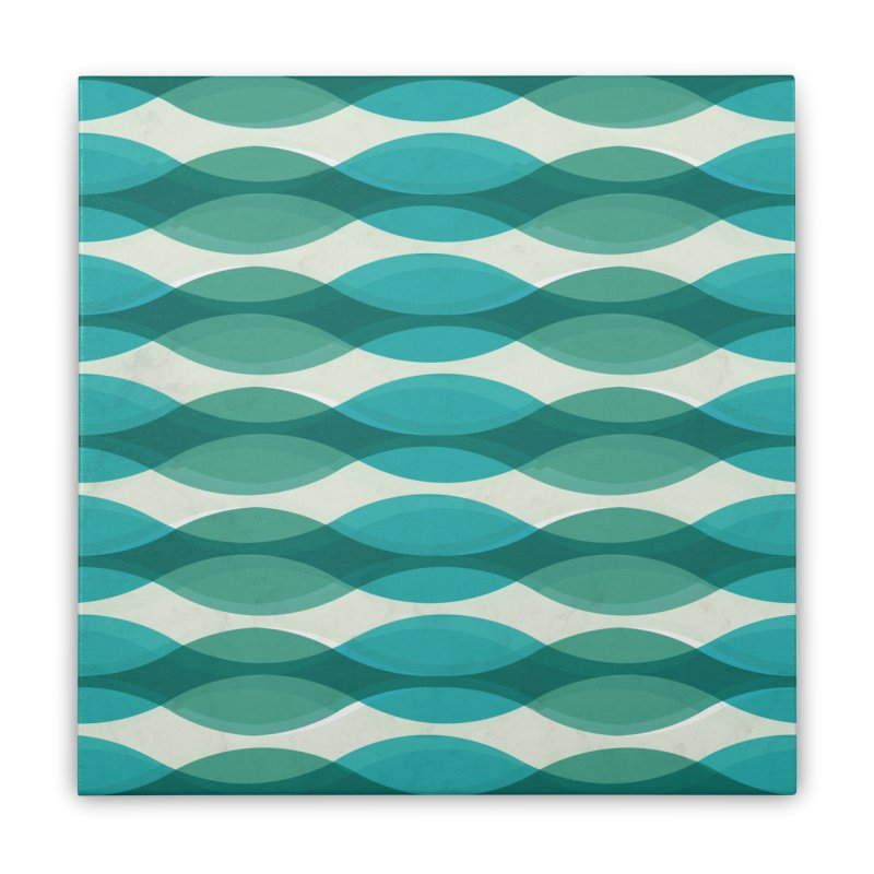 Aquamarine Waves Sea Home Stretched Canvas by Tobe Fonseca's Artist Shop