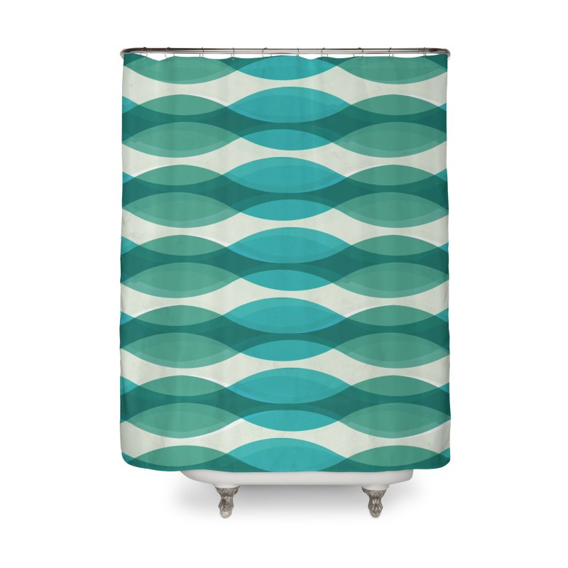 Aquamarine Waves Sea Home Shower Curtain by Tobe Fonseca's Artist Shop