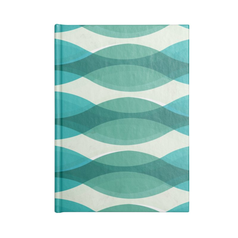 Aquamarine Waves Sea Accessories Notebook by Tobe Fonseca's Artist Shop