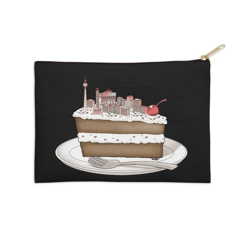 Hungry for Travels: Slice of Berlin Accessories Zip Pouch by Tobe Fonseca's Artist Shop