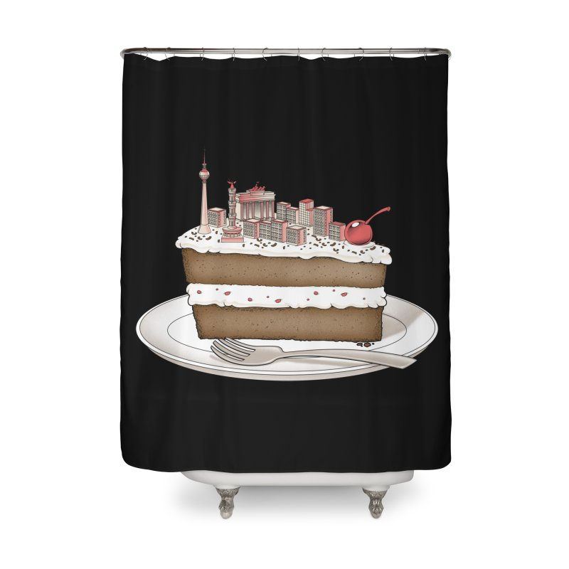 Hungry for Travels: Slice of Berlin Home Shower Curtain by Tobe Fonseca's Artist Shop