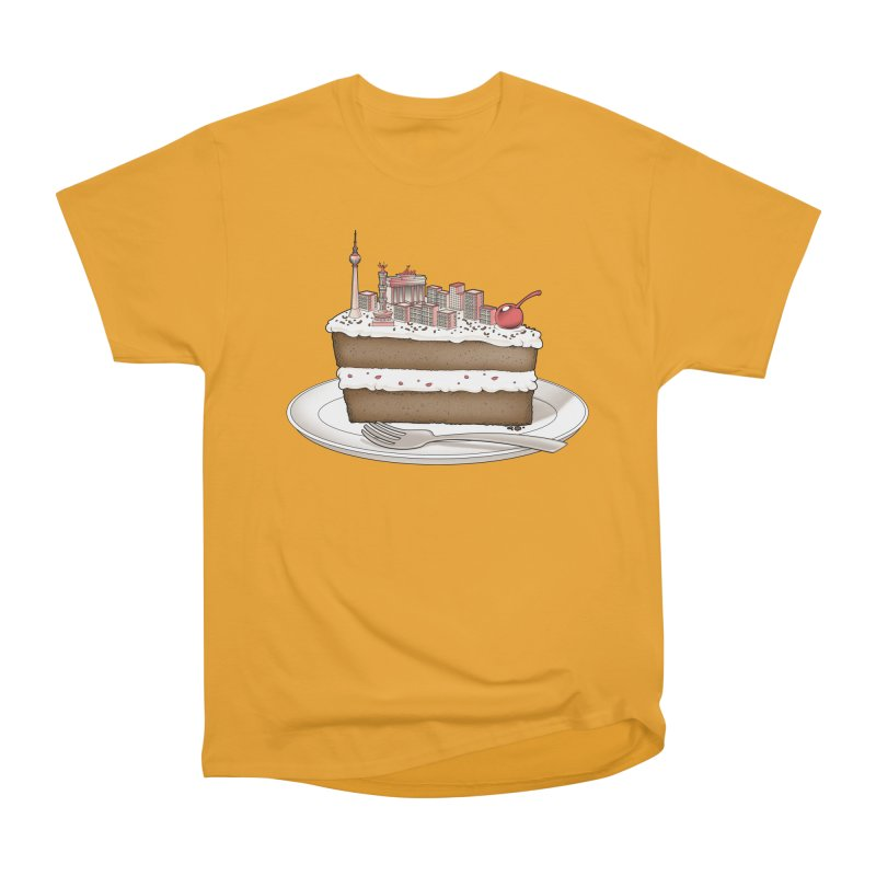 Hungry for Travels: Slice of Berlin Women's Heavyweight Unisex T-Shirt by Tobe Fonseca's Artist Shop