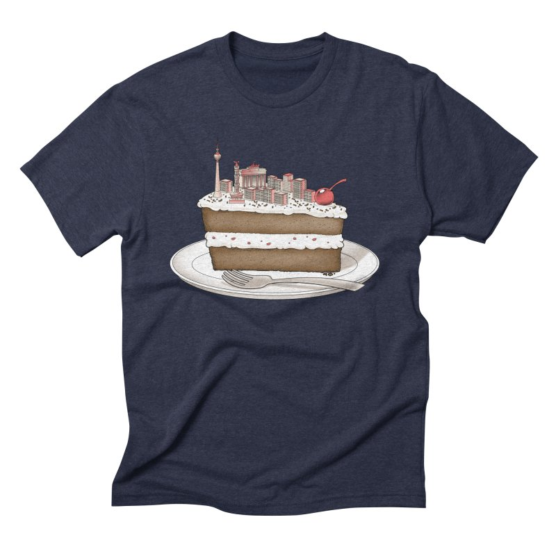 Hungry for Travels: Slice of Berlin Men's Triblend T-Shirt by Tobe Fonseca's Artist Shop