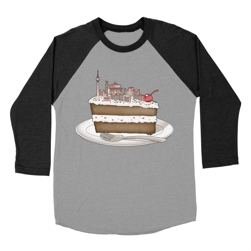 Hungry for Travels: Slice of Berlin Women's Baseball Triblend T-Shirt by Tobe Fonseca's Artist Shop