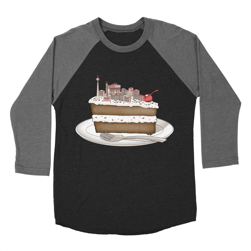 Hungry for Travels: Slice of Berlin Men's Baseball Triblend T-Shirt by Tobe Fonseca's Artist Shop