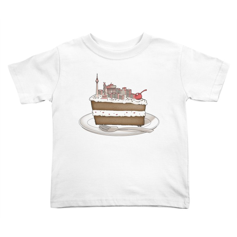 Hungry for Travels: Slice of Berlin Kids Toddler T-Shirt by Tobe Fonseca's Artist Shop
