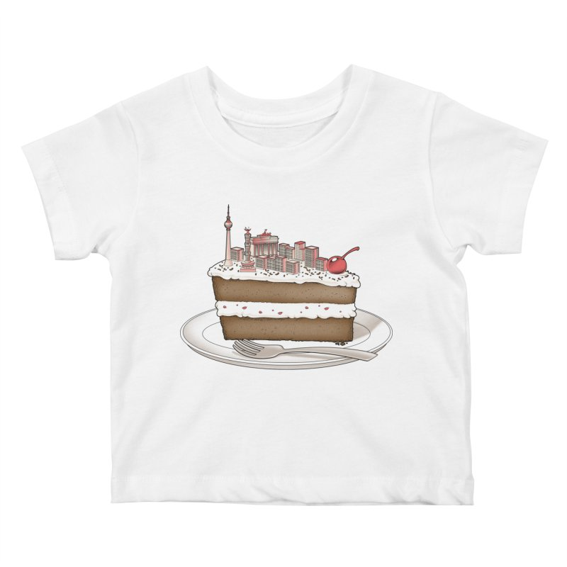 Hungry for Travels: Slice of Berlin Kids Baby T-Shirt by Tobe Fonseca's Artist Shop