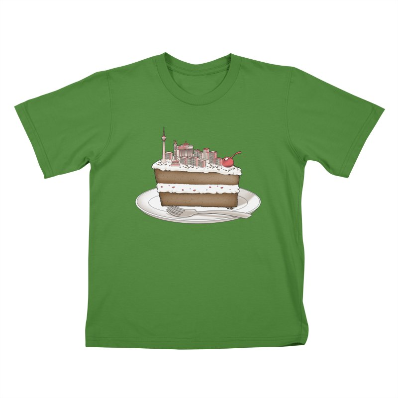 Hungry for Travels: Slice of Berlin Kids T-Shirt by Tobe Fonseca's Artist Shop