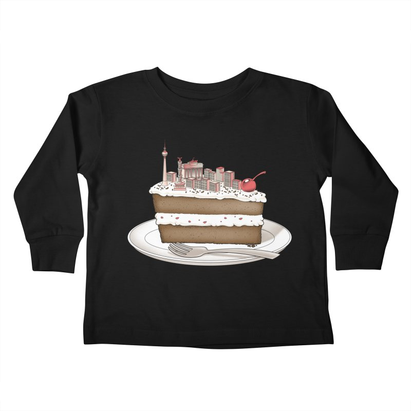Hungry for Travels: Slice of Berlin Kids Toddler Longsleeve T-Shirt by Tobe Fonseca's Artist Shop